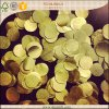 Confeti de papel Shaped redondo del confeti del papel de tejido del oro para la boda