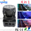 Sale chaud 7PCS*10W DEL 4in1 Mini Moving Head Lighting