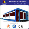 Precio inoxidable de la maquinaria del cortador del laser de la fibra del CNC de la placa de acero de Hunst