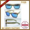 Usine en bois de lunettes de soleil des lunettes de soleil Bamboo/Wooden de Sunglasses/Round