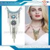 Collana accessoria delle nappe del metallo di doratura elettrolitica dei monili dell'indumento della donna