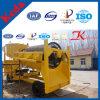 Matériel de lavage de trommel d'or mobile diesel de haute performance
