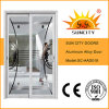 Porta deslizante do painel dobro de vidro de alumínio