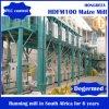 Еда маиса 100 Tpd, машинное оборудование стана Mazie, технологическая линия муки маиса