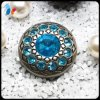 Blue Rhinestone Plastic Dome Sewing Fashion Coat Button