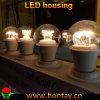 Cubierta del disipador de calor de la taza de la lámpara del bulbo de A60/A19 LED