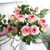 flor artificial de Rose de la boda del terciopelo para la decoración (SW03333)