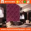 Terciopelo de lujo italiano del diseño que se reúne el papel pintado para la decoración casera