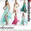 2014 bördelte langes Abschlussball-Kleid-Abend-Kleid