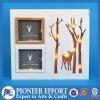 나무로 되는 크리스마스 LED 가벼운 상자 소형 사진 프레임 훈장