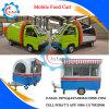 Mini carro del café de los alimentos de preparación rápida del carro del alimento del omnibus para la venta