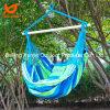 Lona ao ar livre azul de acampamento de suspensão listrado do patamar da cadeira do assento do balanço da corda do Hammock