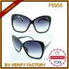 F6905 de Zwarte Gepolariseerde Zonnebril van het Frame Manier voor Dame