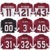 Abitudine cucita la Jersey di gioco del calcio di Fitzgerald Peterson & capretti neri bianchi rossi in bianco normali delle donne dell'uomo di Ellington del Bethel