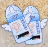 로고에 의하여 인쇄되는 아기 선물 우우병 LCD 온도계