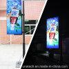 Rectángulo ligero del anuncio de la promoción de la cartelera de los media de publicidad al aire libre de poste ligero LED