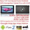 7.0  système de navigation portatif du véhicule GPS avec la carte de 2017new GPS, appareil-photo de stationnement ; Tableau de bord GPS