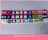 Faixa de pulso feita sob encomenda do PVC do logotipo para presentes relativos à promoção