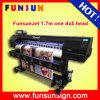 1440dpi Funsunjet Fs-1700k 1.7m Eco Solvent Banner Printer com Um Dx5 Head Digital Printing Machine