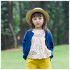 Ropa azul de las muchachas de las lanas del 100% para el resorte/el otoño