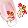 Etiqueta engomada temporal del clavo de la transferencia del agua de la flor de la decoración de DIY