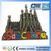 Faça lembranças promocionais de Barcelona Magnetômetro de refrigerador Termômetro