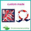 Moda Onda Impresso Lenço quadrado Lenço de seda Custom Logo