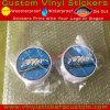 돌 018 주문 승진 상표 자동 접착 원형 비닐 스티커