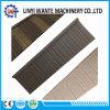 Tipo de madeira telha da venda quente de telhado colorida do metal do material de construção