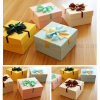 Pequeños rectángulos de regalo cuadrados bonitos lindos decorativos baratos de la Navidad de la boda del cumpleaños con la cinta