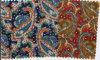 Pajarita teñida hilado de la tela de Paisley del algodón del estilo del asunto
