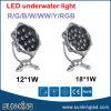 IP68 sous la lampe de l'eau imperméabilisent la lumière sous-marine 12W 18W de projecteur de l'acier inoxydable DC24V AC24V de fontaine rouge verte extérieure du bleu RVB RGBW DEL