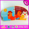 2015 Item novo Wooden Book para Kids Education, Wooden Books de Preschool Children, Easy a Learn Wooden Story Book Wholesale W12e003