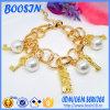 Form Metal Chain Bracelet Style mit Custom Logo Charm