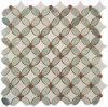 Ming 녹색 혼합 Thassos 백색 꽃 패턴 모자이크