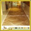 Revestimiento de suelos de madera amarillo del mármol del grano para el hotel