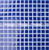 mattonelle di mosaico lustrate Crackle di ceramica blu della piscina di 23X23mm (BCH605)