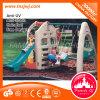 Campo de jogos ao ar livre da corrediça plástica do balanço das crianças