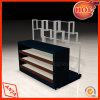 Clothes en bois Display Counter avec Metal Trousers Rack