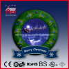 Венок Рожденственской ночи Дед Мороз декоративный с нот