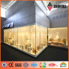 Visualizzazione Stand Silver Polyester 3mm Thickness Aluminum Decoration Panel