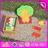 2015 brinquedos animais do jogo do enigma dos brinquedos educacionais, brinquedo de madeira do enigma do projeto animal encantador, brinquedo de madeira barato do enigma de DIY na caixa W14D012