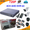 4 canal Ahd DVR Kit con 720p Camera