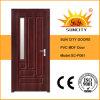 現代デザインガラス贅沢な内部の木製のドア(SC-P061)
