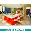 Muebles ULTRAVIOLETA de las cabinas de cocina del armario con los golpecitos (AIS-K194)