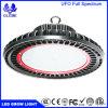 O diodo emissor de luz super do UFO 100W 150W 200W do espetro cheio cresce as luzes 630nm vermelho 460nm azul de todos os vegetais, jardim das estufas usado
