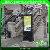 55  65  75 de  Waterdichte LCD van de Tribune van TV OpenluchtVertoning van de Kiosk 2000nits van de Totem van de Reclame