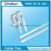 Blanker Widerhaken-Edelstahl-Kabelbinder der Strichleiter-304