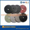 Pad de polimento seco 4 polegadas de polimento de diamante flexível seco