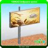 Construção de aço que anuncia o quadro de avisos do anúncio ao ar livre do diodo emissor de luz Digital